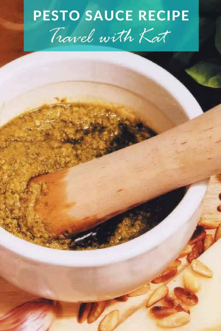 Pesto sauce recipe from Liguria, Italy