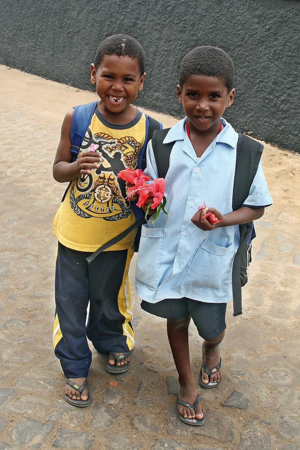 Local children in Santa Maria, Sal, Cape Verde