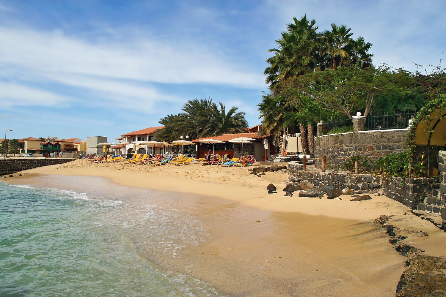 Private beach at Odjo d'Agua, Santa Maria, Sal, Cape Verde