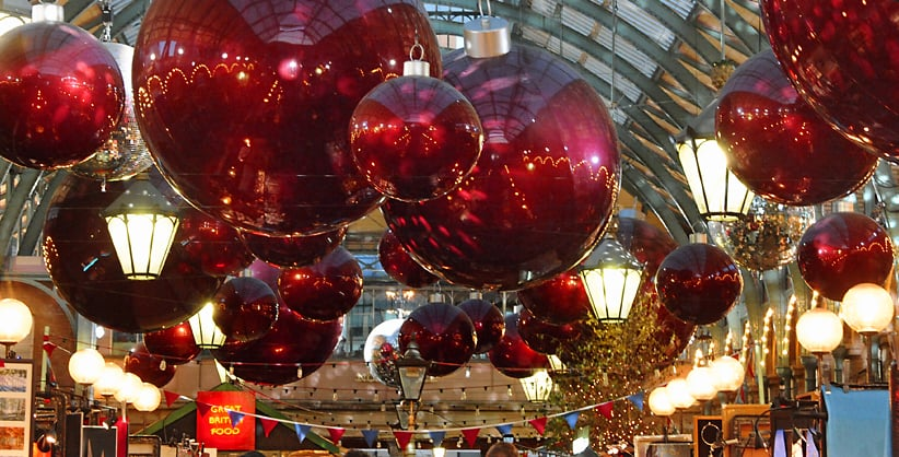 Christmas in London's Covent Garden