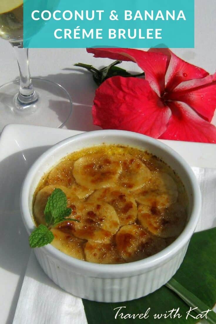 An easy recipe for Coconut and banana créme brulee