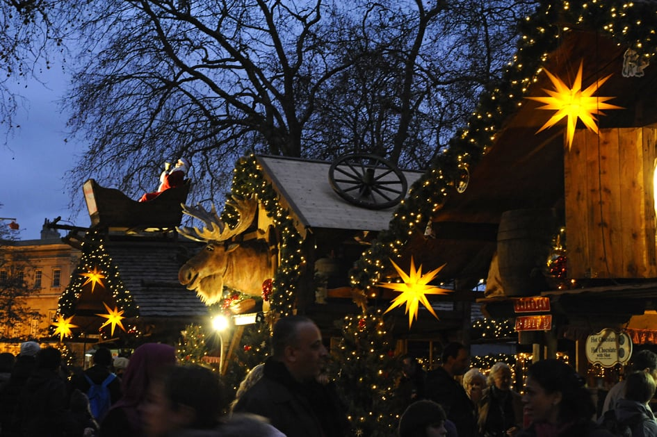 Christmas Markets, hyde park, new years eve, Angels market, New Years Eve Hyde Park