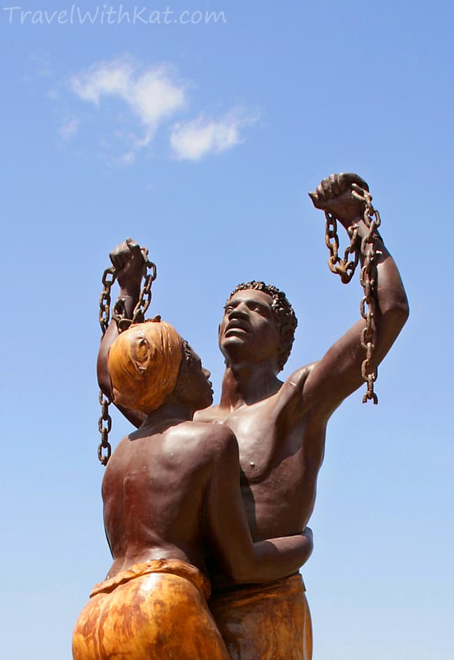 favourtite travel photograph, Goree Island slave statue