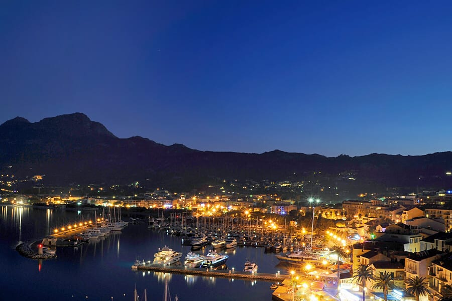 Photographing Calvi Marina at dusk