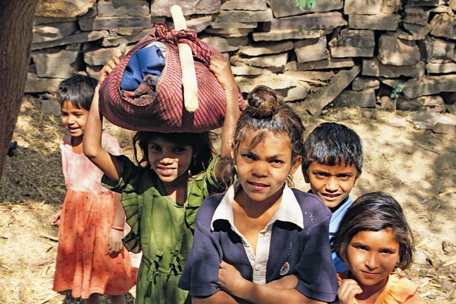 village children Rajasthan India