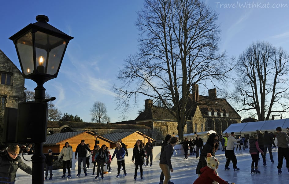 Winchester Cathedral's ice rink