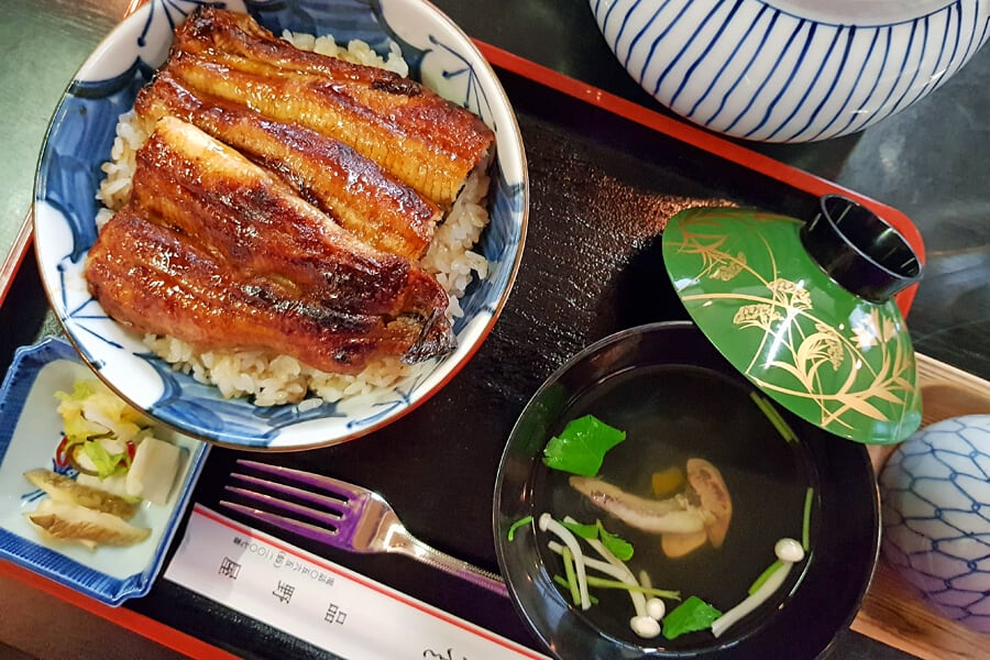 Eel's liver, a local delicacy in Japan