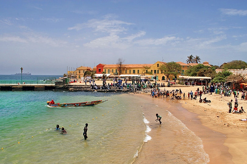 beach, Goree Island, Senegal