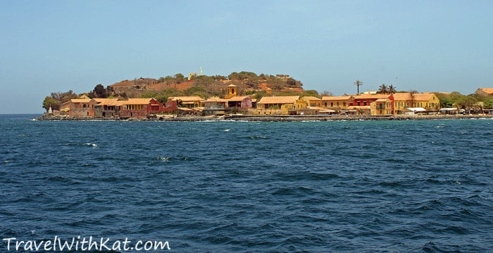Goree Island as seen from the sea