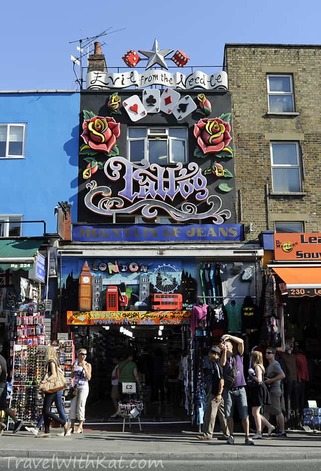 London days out camden 39 s markets restaurants pubs and for Tattoo shops in london