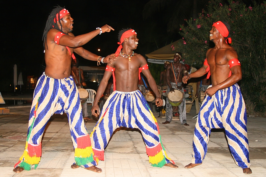 Drum, dance and theatre group in The Gambia