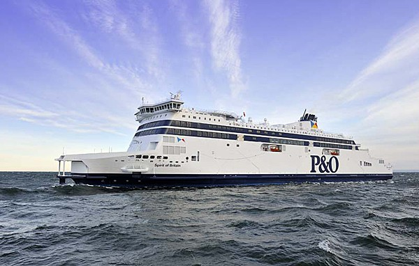 P&O Ferries latest addition to their fleet, the Spirit of Britain.