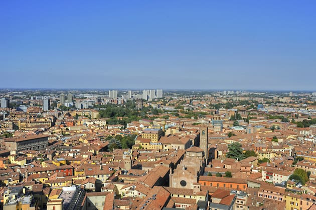 View from Asinelli tower