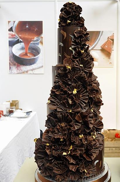 Fleur de Sel, wedding cake of chocolate