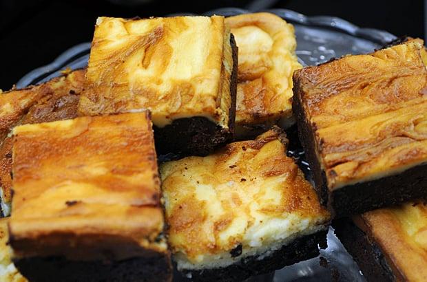 salted caramel cheesecake, gluten free brownies