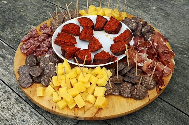 Sobrasada, the centre piece of this tapas platter, mallorcan food guide