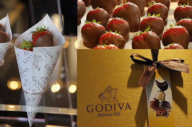 Godiva chocolate, Apple Market, Covent Garden