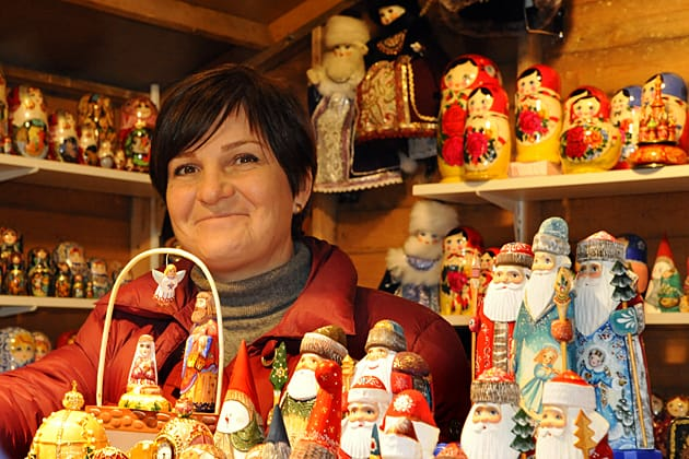 Russian dolls on displat at Brussels' Christmas Market