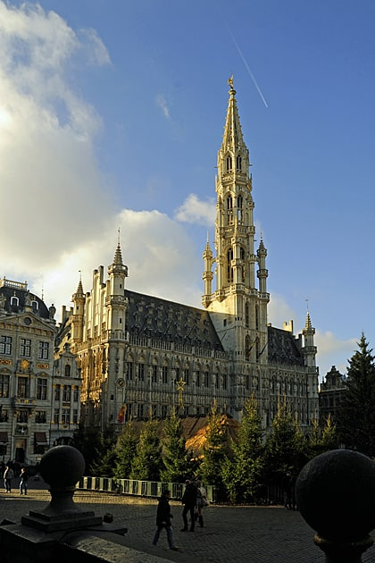 Brussels The town hall in Brussels on the Grand Place
