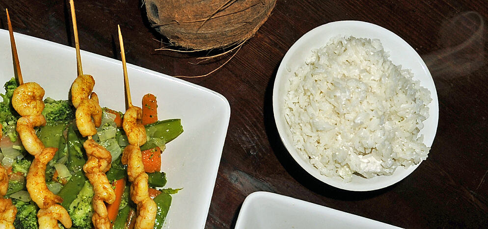 Burmese coconut rice recipe
