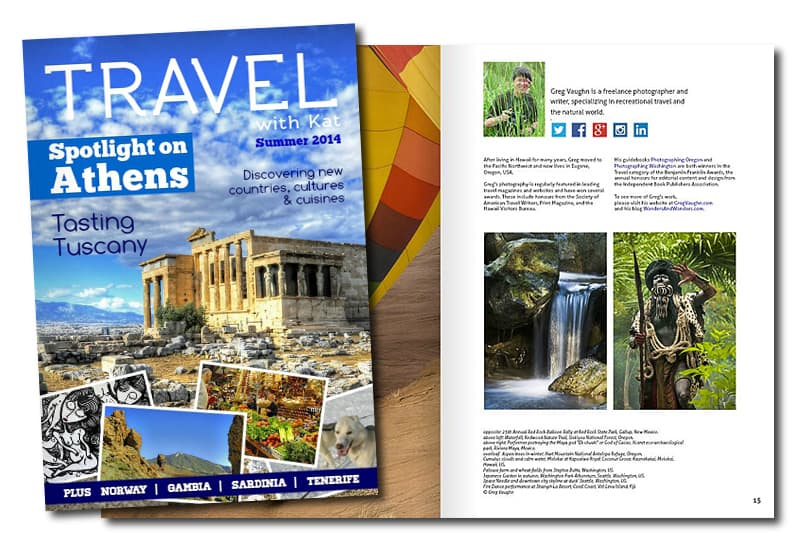 Digital travel magazine
