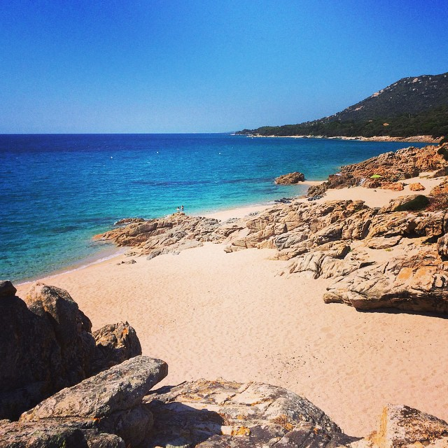 Just look at beach!!! Don't you just want to dive right in? #Corsica #travel