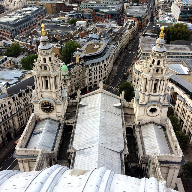 Looking down on St Paul's. 528 steps up! #london #knackeredbuthappy