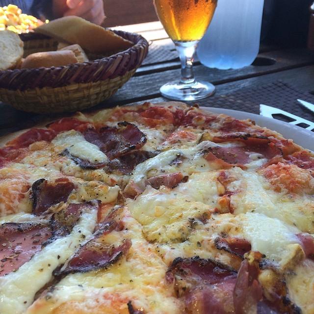 Corsican pizza... Superb! #Corsica #France #travel #foodporn