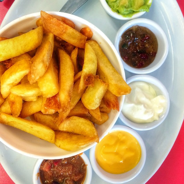 Atomic fries! #meggayum