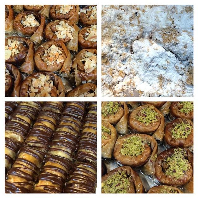 Sweet treats in #Fira #Santorini  #Greece #foodporn