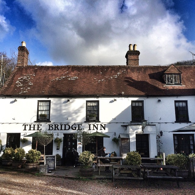 Ended our walk at The Bridge Inn #Amberley #WestSussex #England #hiking