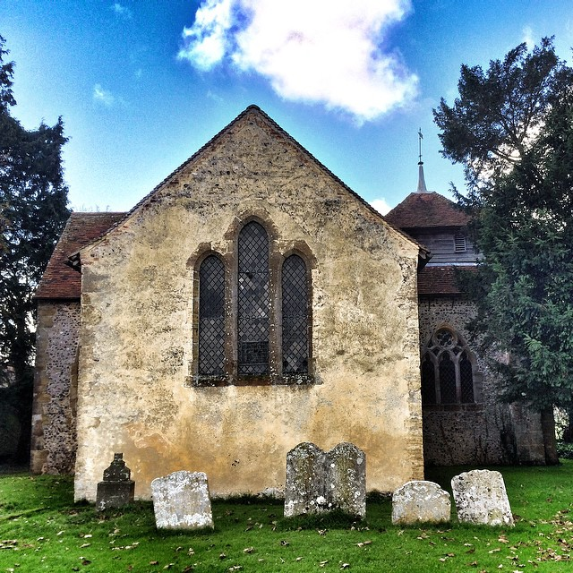 Lovely day yesterday walking in the countryside around #Amberley #westSussex Ended up in North Stoke and found this medieval #church