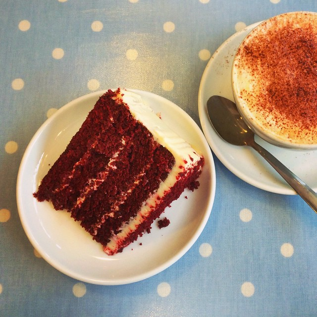 Red Velvet Cake at The Swallow Bakery #Chichester #WestSussex #foodporn #delicious