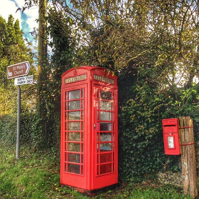 North Stoke's public telephone box is now a tourist information site, brilliant idea #WestSussex #England
