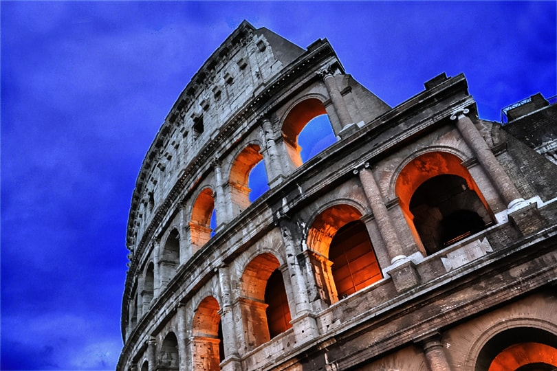 Colosseum, Rome at dusk