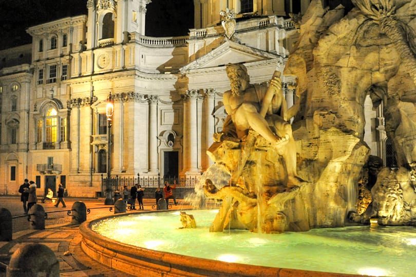 Piazza Navona, Rome by night