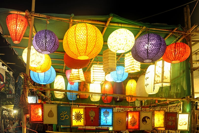 Highlights of Goa, the Saturday Night Market in Arpora.