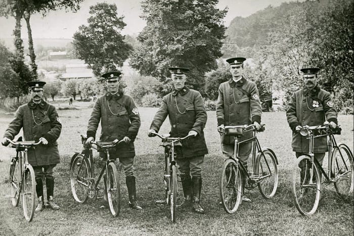 Early AA bicycle patrols