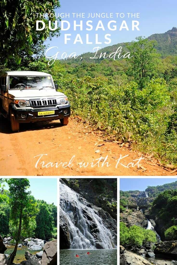 Through the jungle to the Dudhsagar Falls, Goa, India