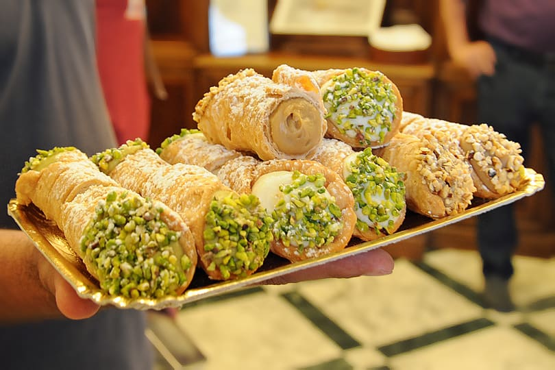 Cannoli from Antica Dolceria Bonajuto in Modica, Sicily
