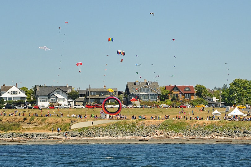 Kite festival in Victoria, British Columbia, Canada
