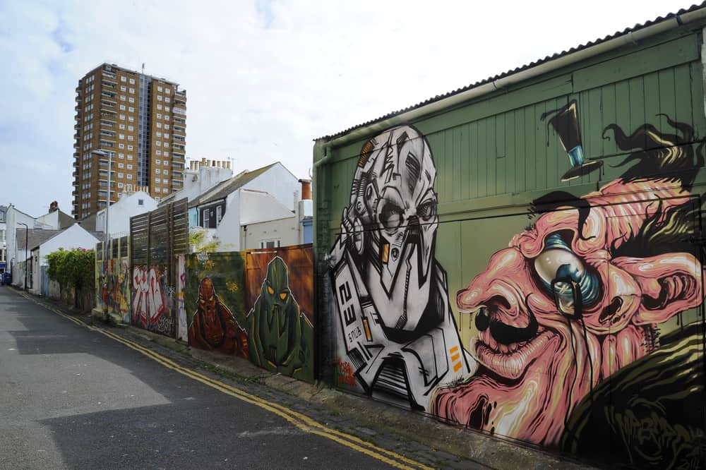 Trafalgar Lane Street Art, Brighton