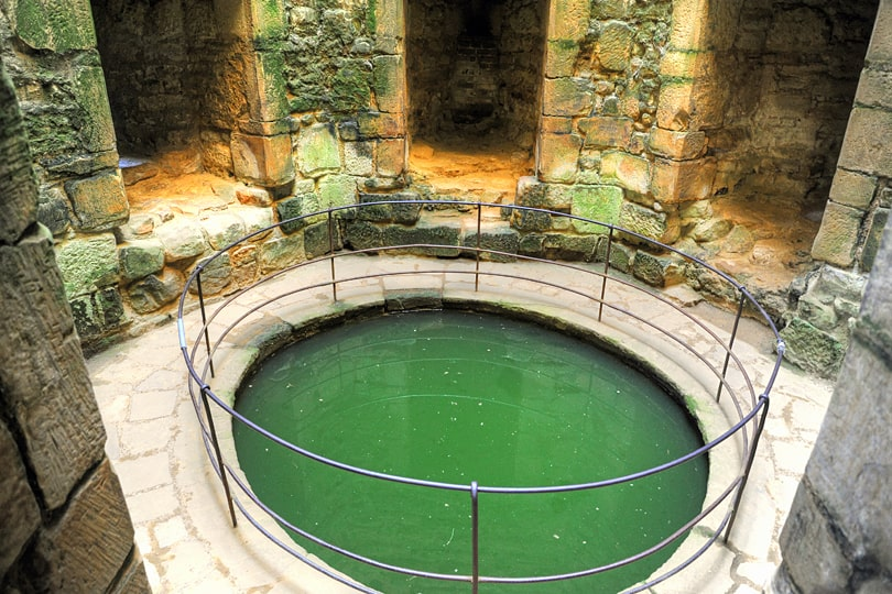 The well room in Bodiam Castle, East Sussex