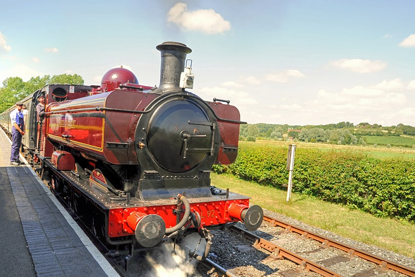 Journey back in time on a steam train to Bodiam Castle