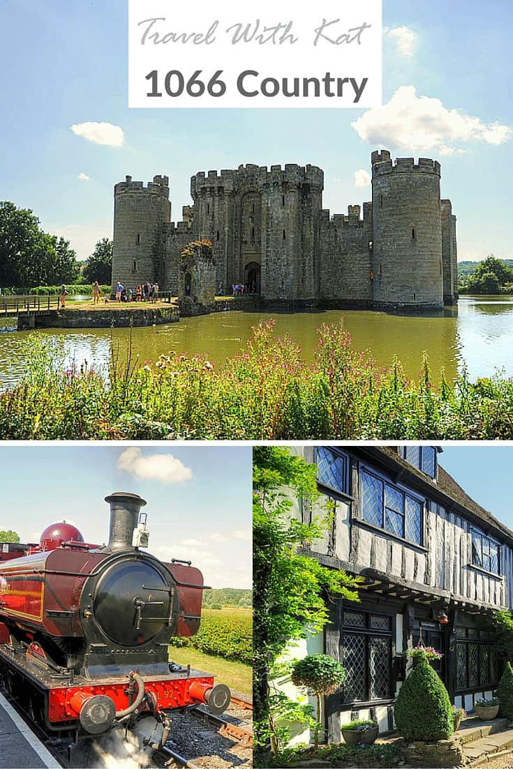 Catching a steam train to Bodiam Castle, East Sussex, England