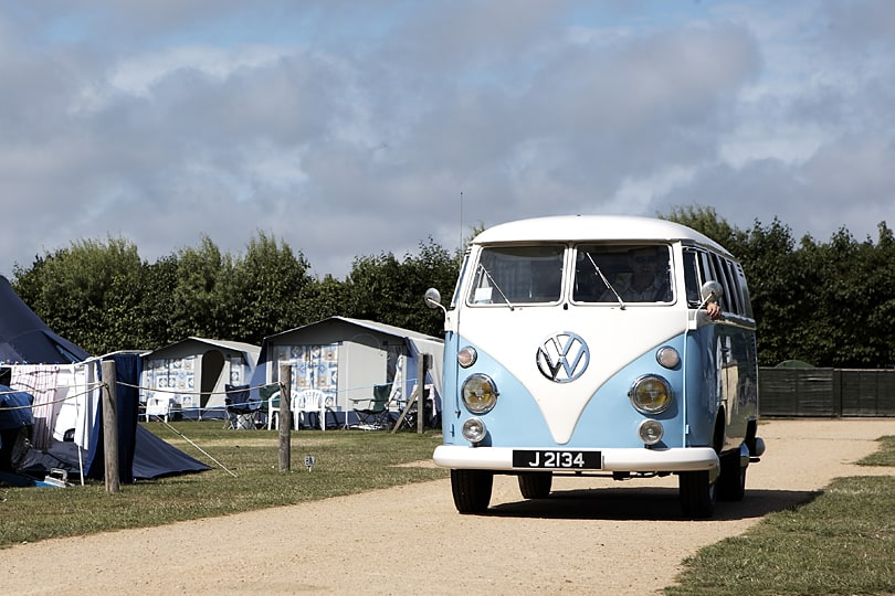 Beuvelande Campsite St Martin. Van available from Jersey Camper Hire.