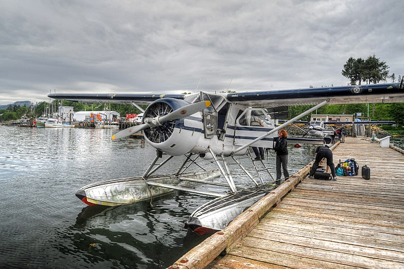 de Havilland Beaver DHC-2, float plane at Port hardy, Vancouver Island, British Columbia, Canada