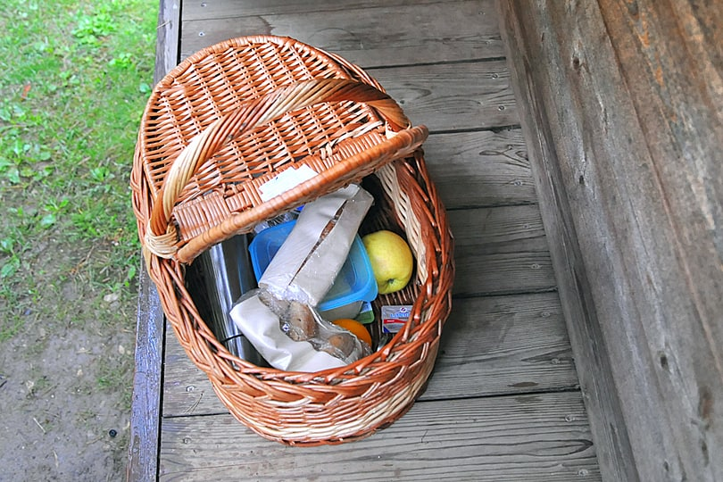 Breakfast hamper, glamping by Lake Bled, Slovenia