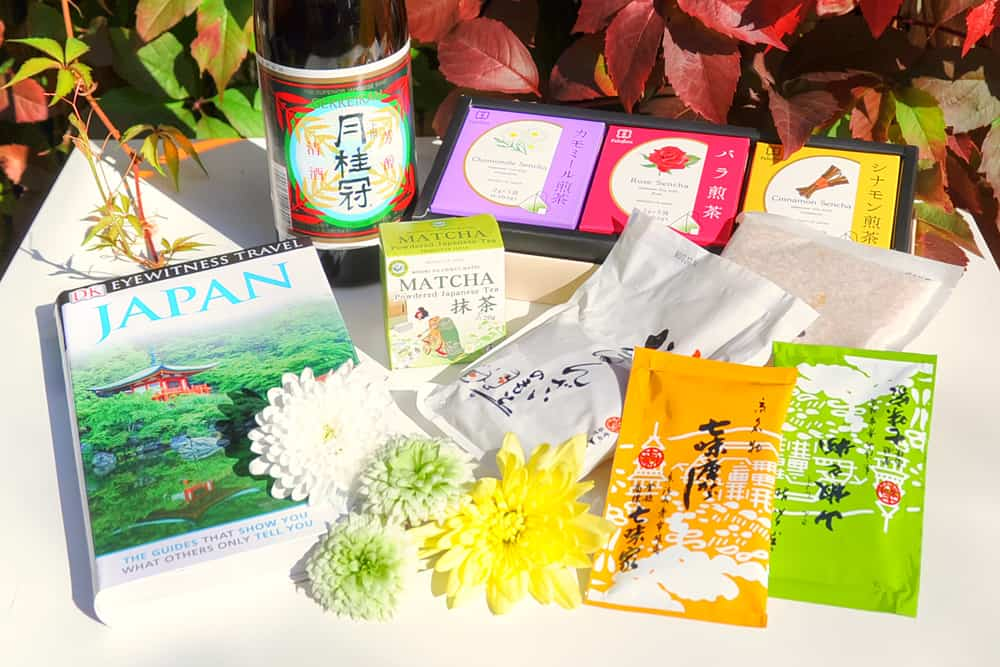 Sake, tea and spices from Japan