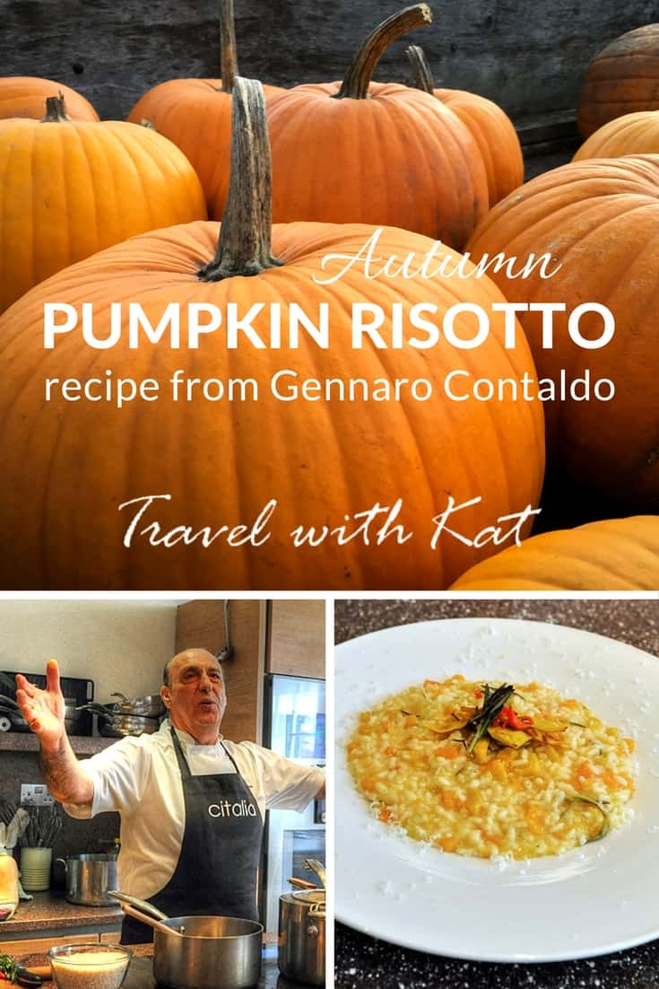 Pumpkin Risotto recipe from Italian celebrity chef, Gennaro Contaldo